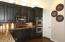 Stainless steal appliances. Double ovens and GAS cooktop.