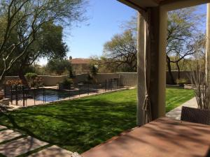 Patio #2 with grassy area.
