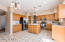 This beautiful kitchen offers all matching stainless steel appliances,