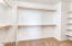 This large walk in closet is just off the master on-suite