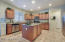 Large kitchen Island, stainless steel appliances