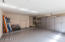 2 Car Garage with epoxy floor and built in cabinets