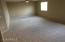 Large loft/bonus room. You could add a bedroom back here and still have an extra room!