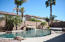 pool, cool deck and palm trees