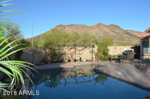 Wow! Just gorgeous unobstructed views of the mountain from your back yard and pool.