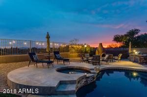 Beautiful backyard with amazing sunsets