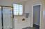 Roomy shower, bath tub, and toilet room
