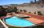 Pool and Spa- backs mountain
