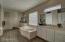 Walk-in Glass Block Shower, JETTED Tub, Dual Vanities & Walk-in Closet!