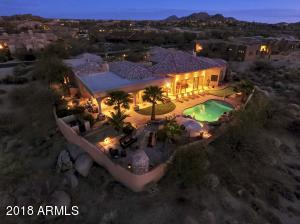 Aerial View -Back, This Estate sits at the Top of Troon North overseeing all the Views.