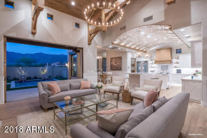 Great Room with view of Superstition Mountains