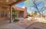 Back yard with wrap around patio