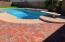 Brick near pool
