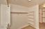 Double sided master bedroom closet