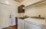 Espresso Cabinetry, Quartz Countertop, shelf & Hanging Rod