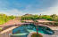 850 sqft diving pool, with water fall and shade sails.