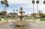Fountain in center of park