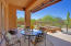 Covered Back Patio with banco & fire pit