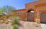 Custom door leads to AMAZING interior courtyard