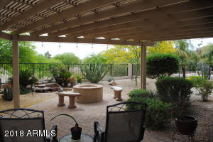 Backyard Patio with pergola covering