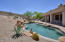 The huge lot has expansive side yards and a high desert backyard. Privacy and serenity at its best!