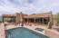 Outdoor living area with Pool, Spa and 270 degree Views.