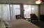 Master #1 with view of atrium and upgraded sliding glass doors