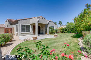 Beautiful back yard! Community pool is a short walk within the gated community.
