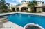 Finally a pool that suits the size of the property! This is a large pool that is proportionate to the lot size,.