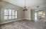 Dining room is located next to the kitchen, perfect for entertaining.