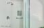 "Custom 3/8"" Frameless Shower Glass Enclosure with Enduroshield Coating. ADA Shower & Bath Grab bar. Custom mosaic tile niche in Shower"