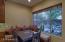 Built in banquet in breakfast area