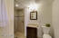 your guests will love this fully renovated guest bathroom as well