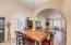 FORMAL DINING. VAULTED CEILINGS. BEAUTIFUL ARCHWAYS. MEDALLION TILES