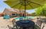 DINING AREA WITH PAVERS. RELAX WHILE SITTING POOLSIDE.