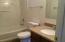 Hall Bath, New Vanity and Granite!