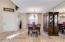 Formal living room and front door