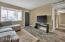 Living room with hall way