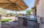 Stainless steel outdoor kitchen (includes offset umbrella)!