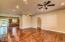 Open concept floor plan. 10' ceilings and hand scraped wood flooring throughout.