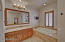 Watch television while you relax in the bath. Spacious master bathroom...
