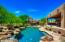 Enjoy relaxing or entertaining in your backyard oasis.