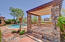 Shows exterior 'cool water' pool shower at portico