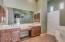 Dual sinks, vanity, walk in shower, separate tub, large walk in with system, private water closet