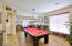 Formal Living & Dining Rooms is currently being used as a bonus/game room.