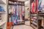 Upgraded master closet with pull outs, extra space and perfect for keeping everything organized.