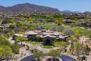 12,000 s.f. under root at this surreal Resort Estate on close to 2 acres expanding the entire 9th Fairway of Las Sendas Golf Course