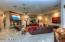 Everyone can congregate in this spacious family room built for the whole family!