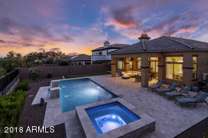 Relax as the sunsets in your spacious backyard.