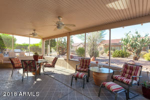 North facing covered patio, prefect to enjoy the cool AZ winter weather